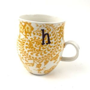 Anthropologie Monogram H Homegrown Initial Mug